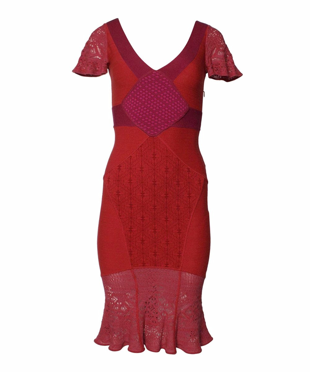 Zac Posen Coral Fuschia Knit Bodycon Dress - C.Madeleine's