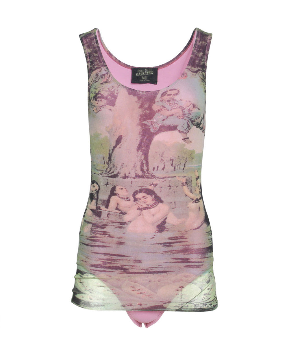 I.PROGRESS- Jean Paul Gaultier Pink Printed Baroque Bodysuit - C.Madeleine's