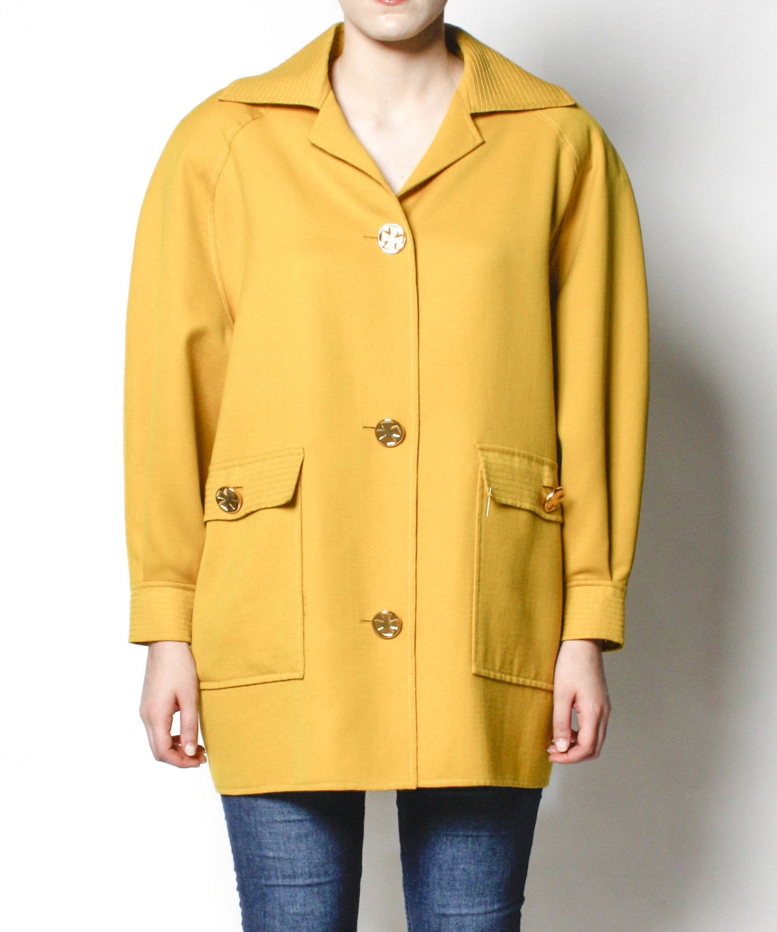 1980s Vintage Christian Lacroix Mustard Yellow Jacket – C.Madeleine's