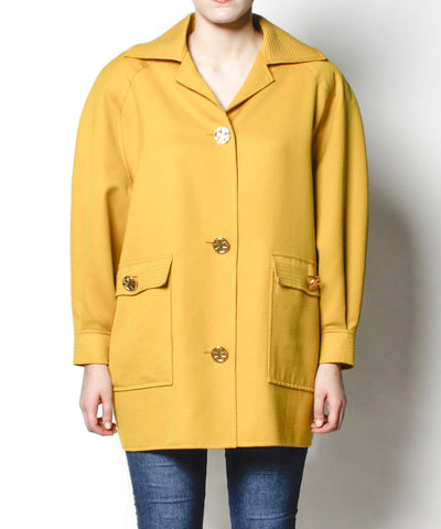 Christian Lacroix 1980s Mustard Yellow Jacket