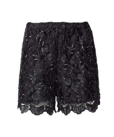 Lillie Rubin Sequins Embroidered High Waisted Shorts - C.Madeleine's