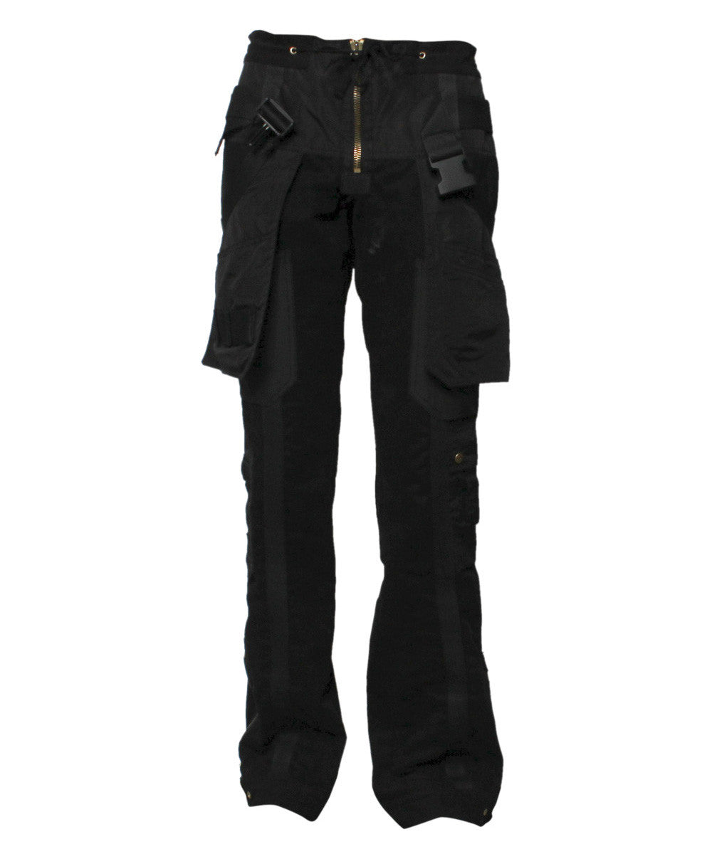 Jean Paul Gaultier Black Cotton Pocket Pants