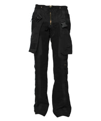 Jean Paul Gaultier Black Cotton Pocket Pants - C.Madeleine's