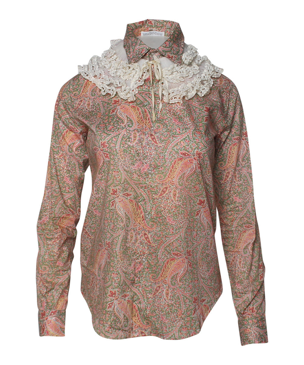 PRINT - Liberty Of London Paisley Cotton Blouse - C.Madeleine's