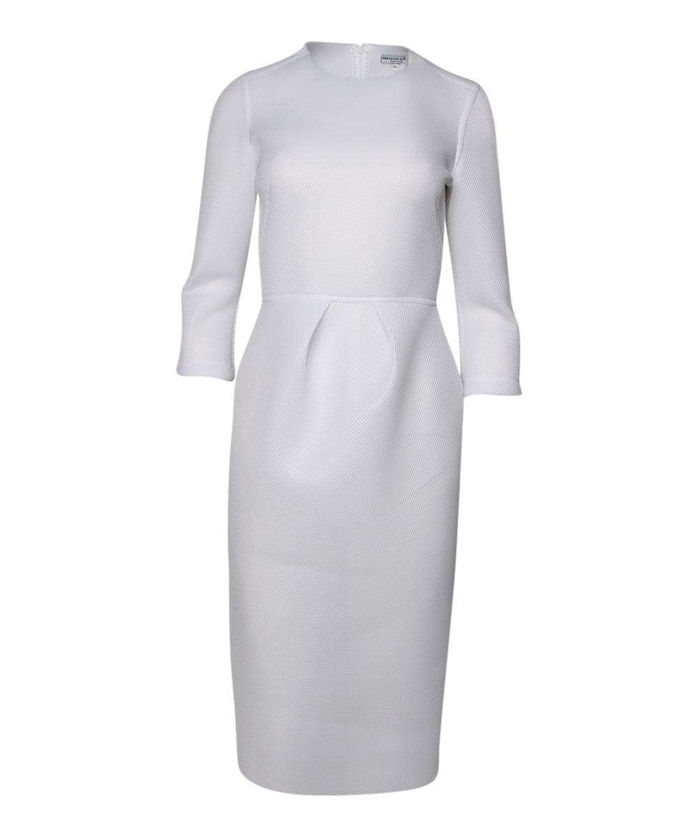 Fernando Garcia White Spacer Mesh Long Sleeve Dress - C.Madeleine's