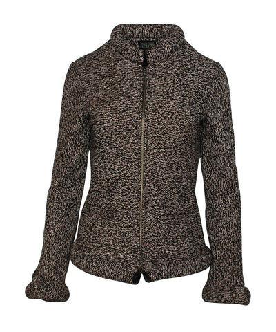 Jean Paul Gaultier Knit Zip Front Jacket With Magnetic Turtleneck