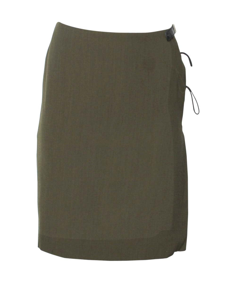 Jean Paul Gaultier 90's Green Wool Skirt