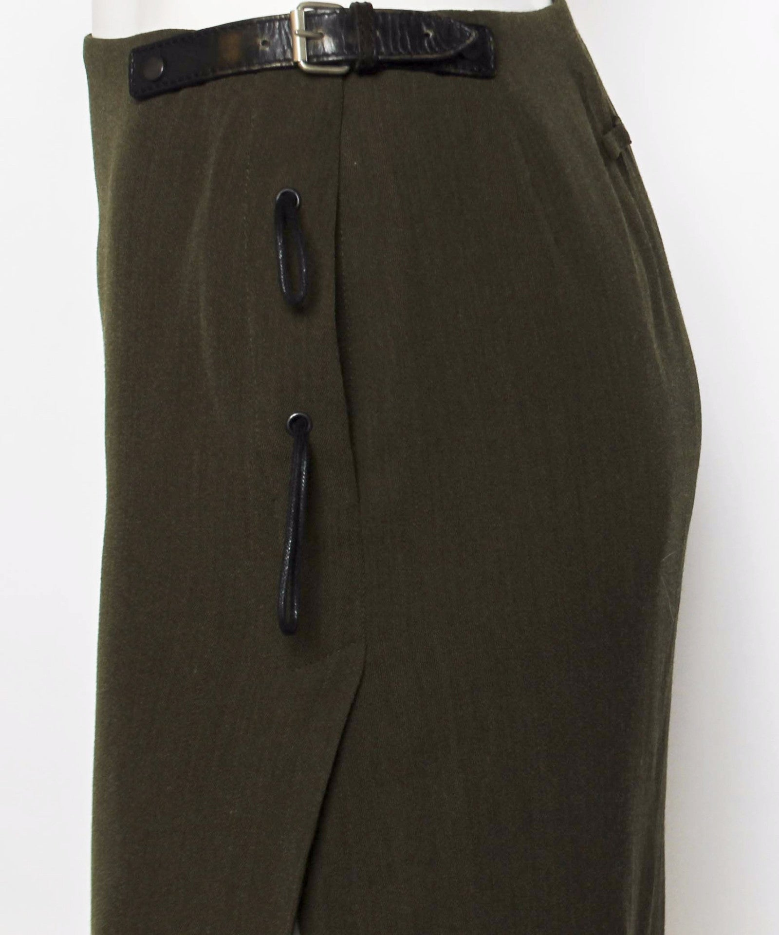 Jean Paul Gaultier 90's Green Wool Skirt - C.Madeleine's