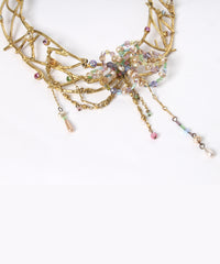 Christian Lacroix Gold Tone Open Work Floral Choker - C.Madeleine's