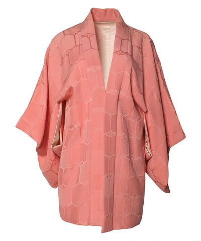 Authentic Pastel Pink Vintage Japanese Kimono With Obi Belt - C.Madeleine's