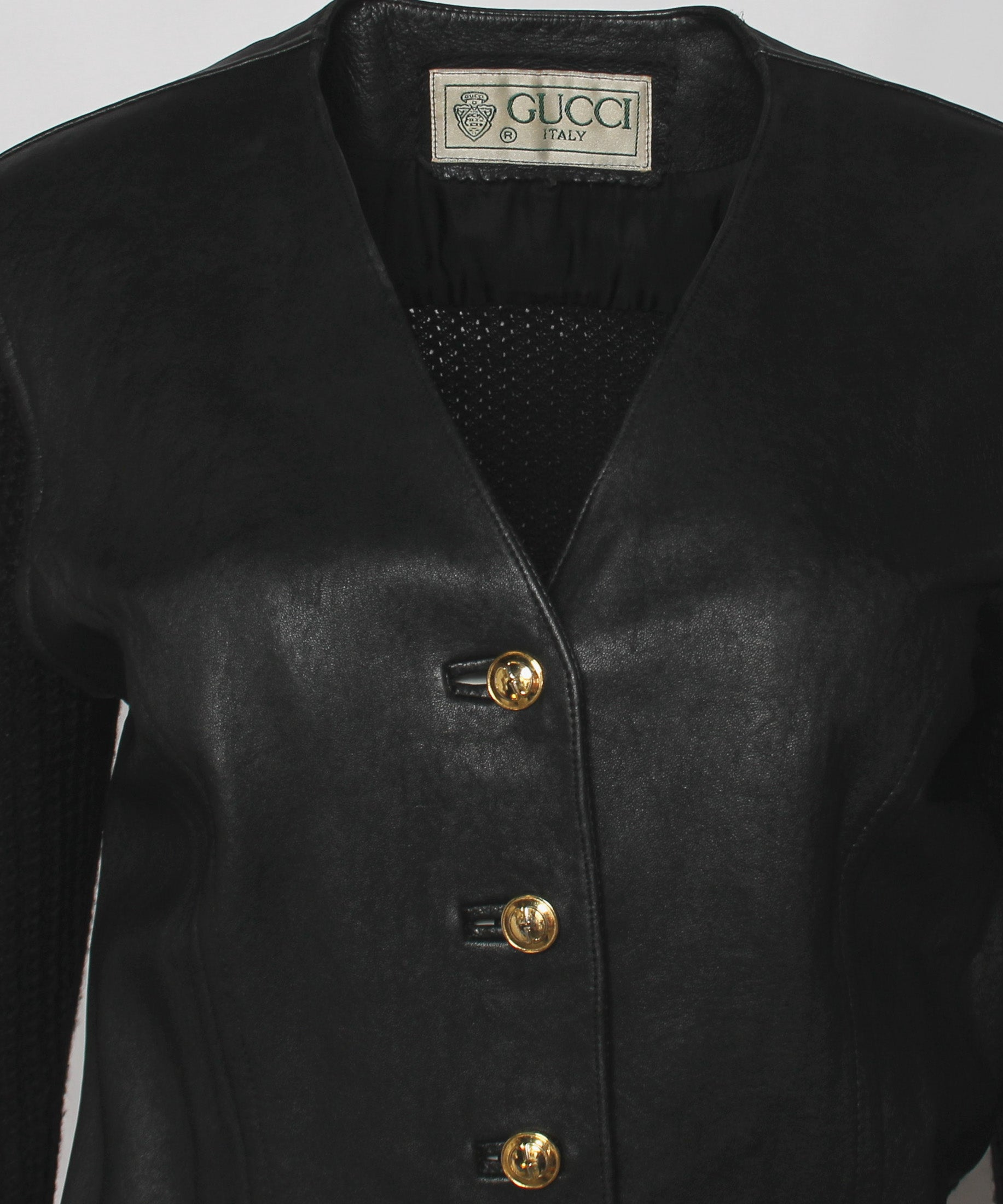 1970s Gucci Leather Knit Cardigan - C.Madeleine's