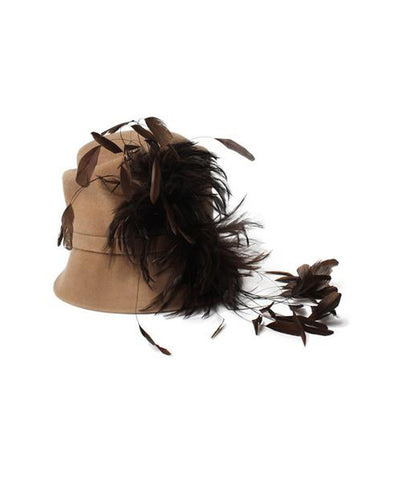 Peter Bettley Wool Feathered Hat