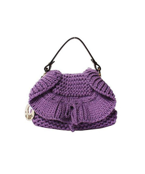 Fendi Purple Knit Mini Bag - C.Madeleine's
