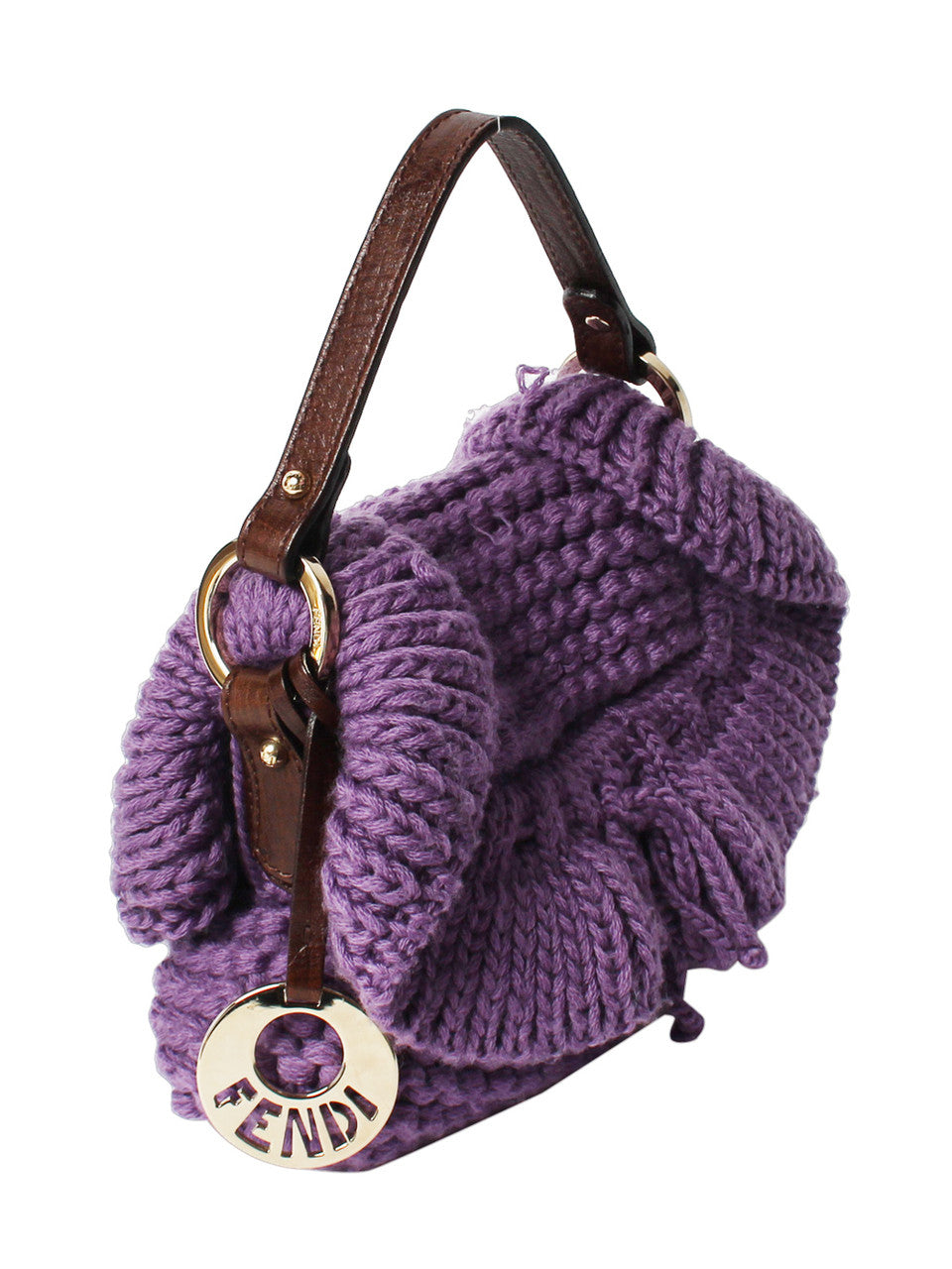 Fendi Purple Knit Mini Bag