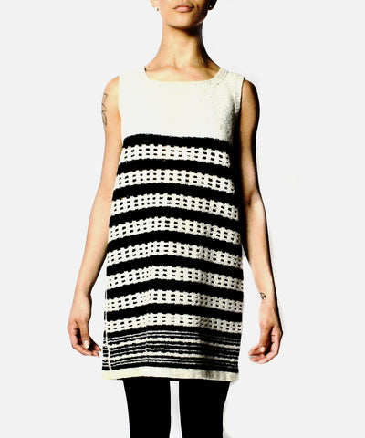 Jean Paul Gaultier Hasidic Collection Wool Knit Tank Sweater Dress - C.Madeleine's