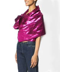 Jean Paul Gaultier Fucshia Metallic Evening Stole/Wrap