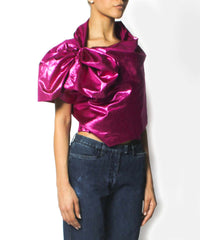 Jean Paul Gaultier Fucshia Metallic Evening Stole/Wrap - C.Madeleine's