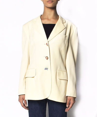 Moschino Cheap & Chic Cream Blazer