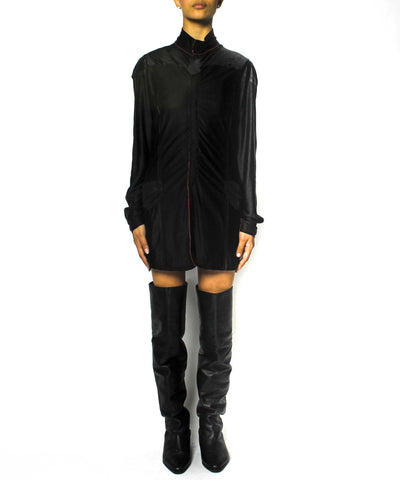 Jean Paul Gaultier Neoprene Moto Dress/ Shirt