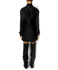 Jean Paul Gaultier Neoprene Moto Dress/ Blazer - C.Madeleine's