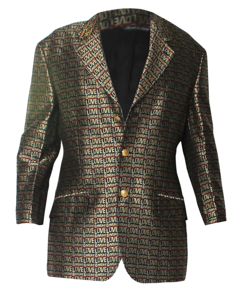 "Moschino Cheap & Chic ""All We Need Is Love"" Printed Blazer - C.Madeleine's"