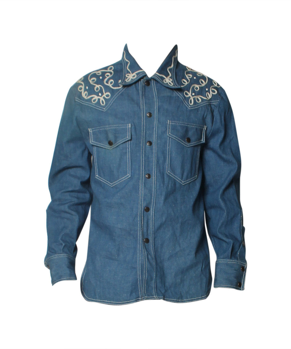 El Toro Bravo Men's Blue Denim Shirt