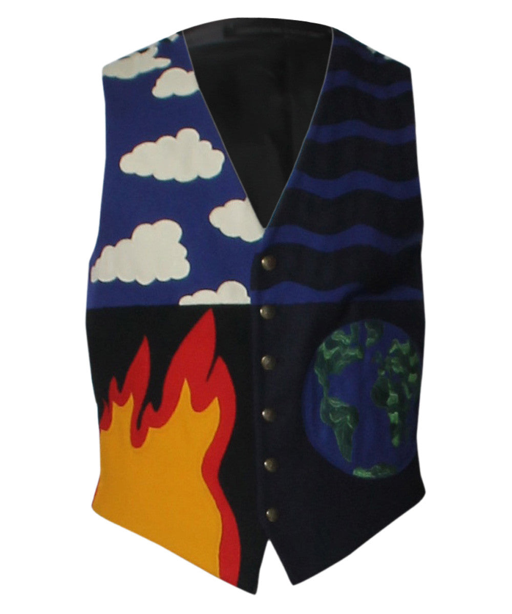 Moschino Cheap and Chic 1990s Earth and Fire Wool Mens Vest - C.Madeleine's