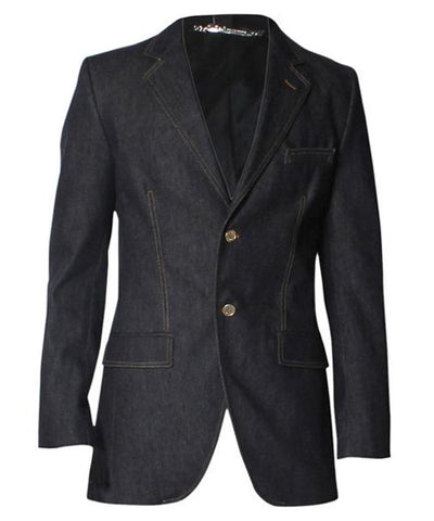 Men's Grey Denim Dolce & Gabbana Denim Blazer - C.Madeleine's