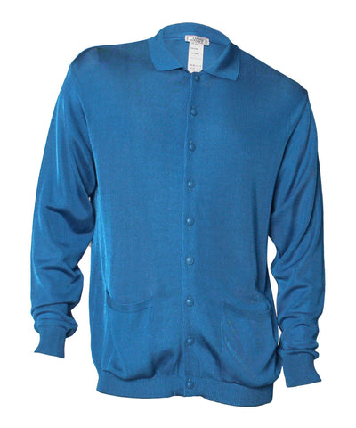 Gianni Versace Blue Long Sleeve Cardigan - C.Madeleine's