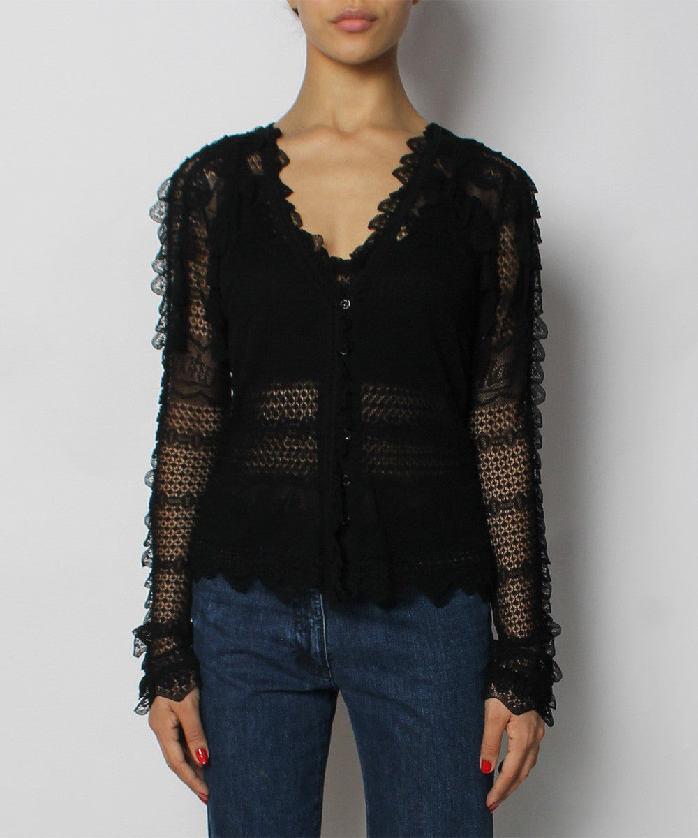 John Galliano Lace Shell And Cardigan - C.Madeleine's