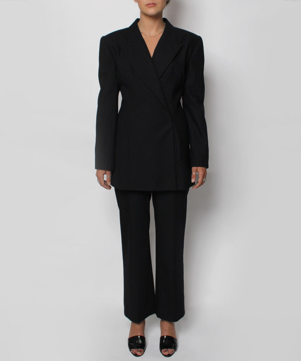 Herve Leger Navy Suit Set - C.Madeleine's