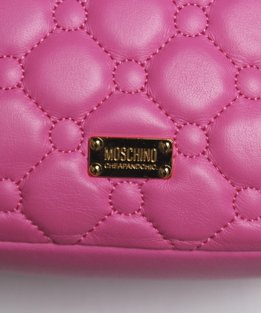 Progress-Moschino Pink Quilted Leather Mini Shoulder Bag - C.Madeleine's