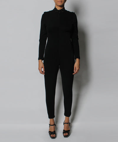 N. Progress- Black Nylon Jumpsuit - C.Madeleine's