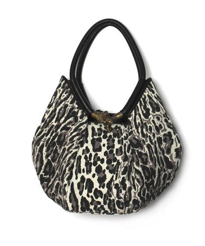 Jimmy Choo Canvas Diego Tote with Brass Snake Detail.