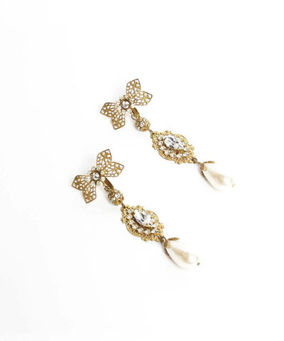 Miriam Haskell Pearl Drop Earrings