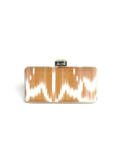 Oscar De La Renta Clutch With Faux Bone Closure