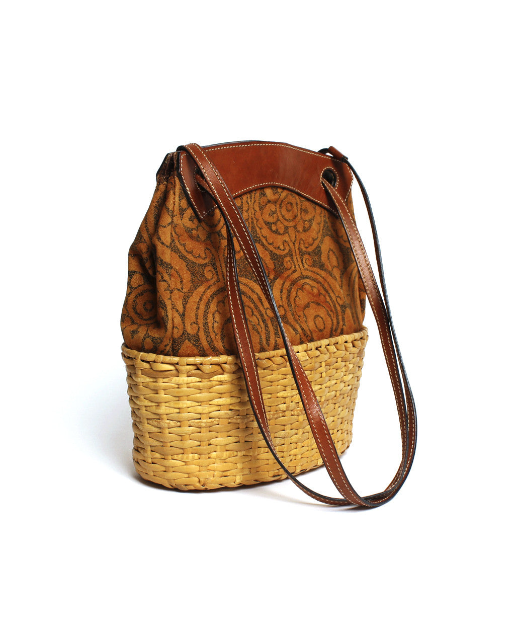 Rodo Sienna Patterned and Wicker Purse