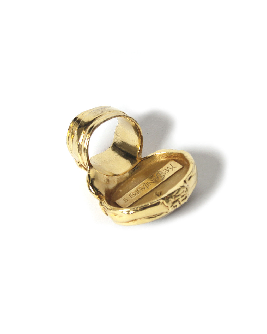 Yves Saint Laurent Arty Gold Plated Oval Glass Ring