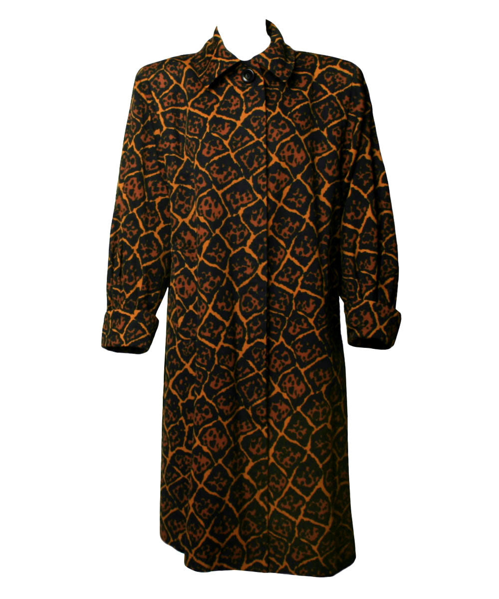 Yves Saint Laurent 1990s Leopard-Print Coat