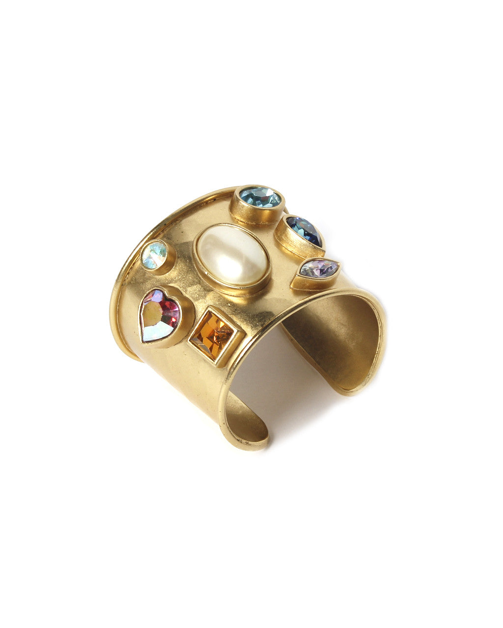 Yves Saint Laurent Gold Cuff with Stones