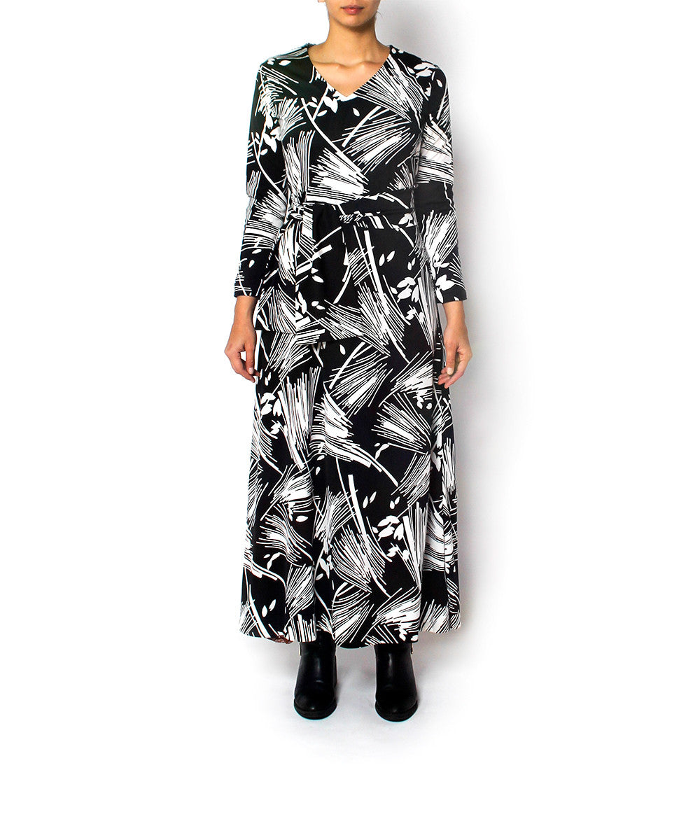 Lanvin 1970s Black & White Print Dress - C.Madeleine's
