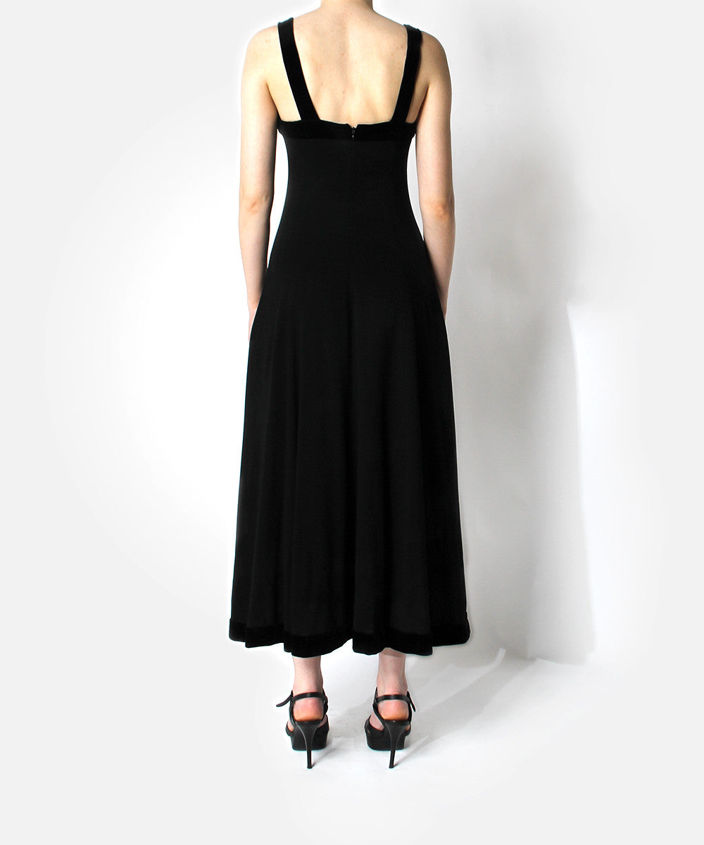 Chanel 1980s Black Sleeveless Gown - C.Madeleine's