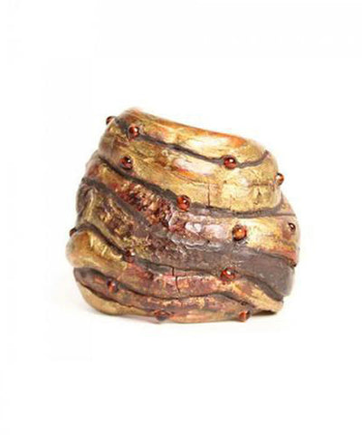 Gloria Lomas 1990s Tree Bark Cuff