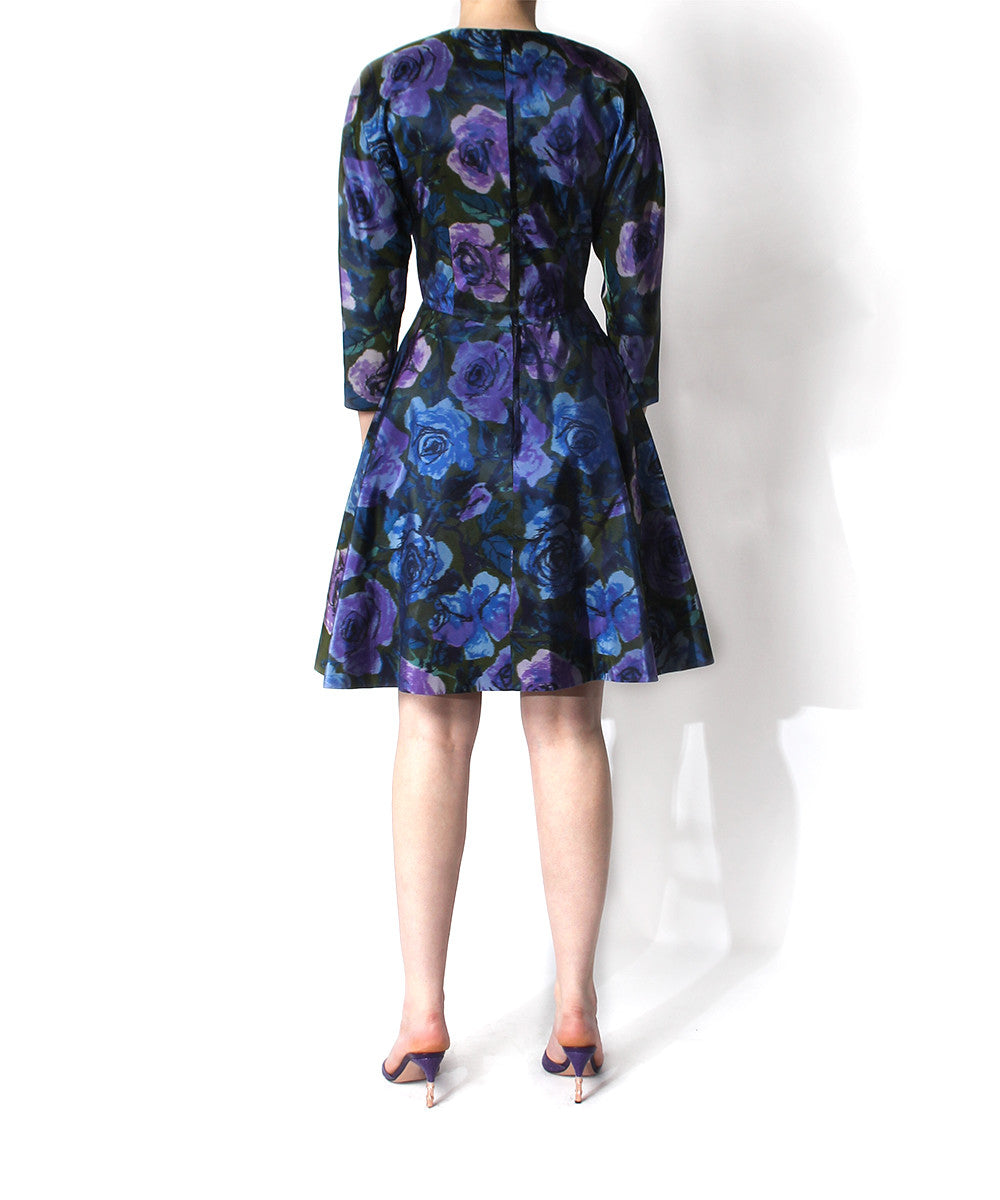 Scaasi Watercolor Print Dress - C.Madeleine's