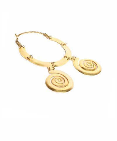 1960s Swirl Bib Necklace