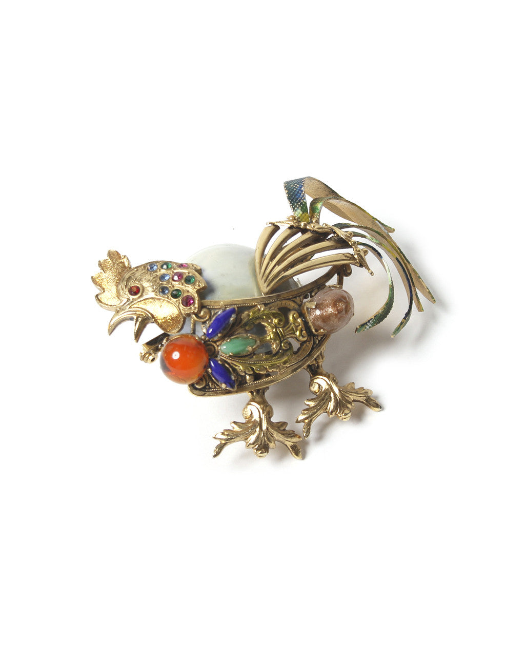 Ornella Bijoux 1965 Gold Tone Rooster Brooch