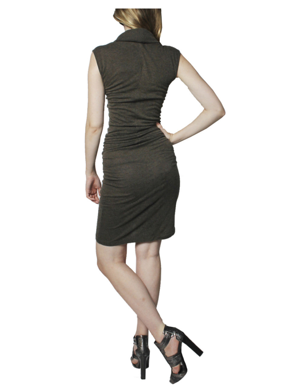 Rick Owens Grey Knit Belted Dress