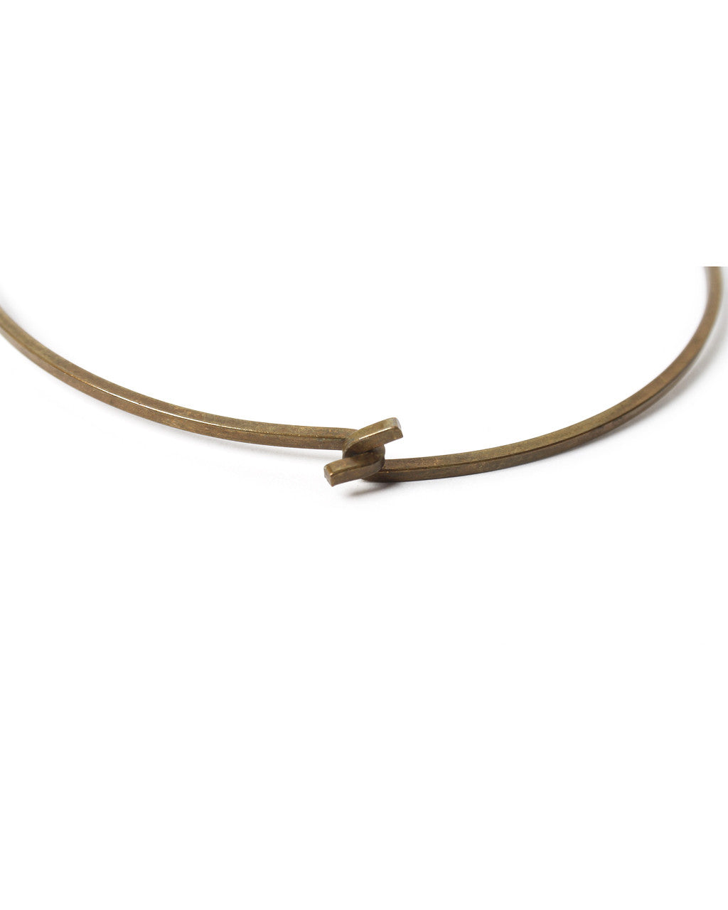 Handcrafted Drop Pendant Brass Choker