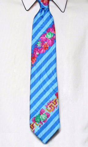 Gianni Versace 1990s Men's Stripe Tie