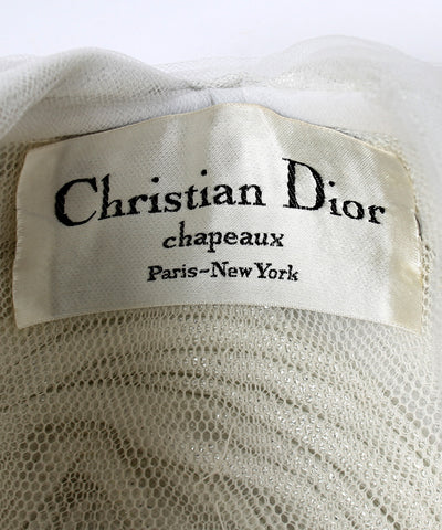 Christian Dior 1970s White and Silver Turban - C.Madeleine's
